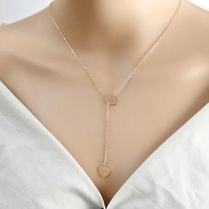 💙 Silver Heart Drop Necklace